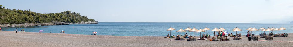 Agia anna beach,Evia Greece Stock Photo