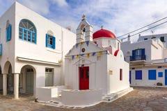 Agia Anna kościół na wyspie Mykonos, Grecja Fotografia Royalty Free
