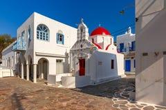 Agia Anna kościół na wyspie Mykonos, Grecja Fotografia Stock