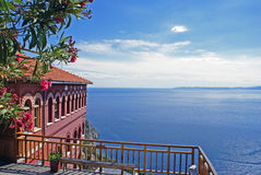Agia Anna monastery guesthouses in Mount Athos Royalty Free Stock Images