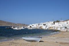 Agia Anna in Mykonos. Island, Cyclades, Greece Royalty Free Stock Image