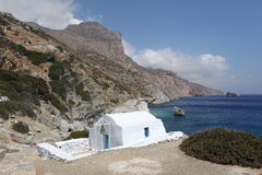 Agia Anna na Amorgos wyspie, Grecja Zdjęcie Stock