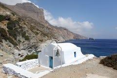 Agia Anna na ilha de Amorgos, Grécia Imagens de Stock Royalty Free