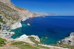 Agia Anna plaża Amorgos, Grecja Zdjęcie Royalty Free