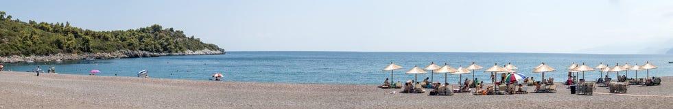 Agia Anna plaża, Evia Grecja Zdjęcie Stock