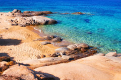 Agia Anna plaża na Naxos wyspie Obrazy Stock