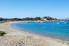 Agia Anna plaża Naxos, Grecja Obrazy Stock