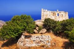 Agia Ayia wierza ruiny na Naxos wyspie Obrazy Stock
