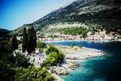 Agia Effimia, ilha de Kefalonia, Grécia Imagens de Stock