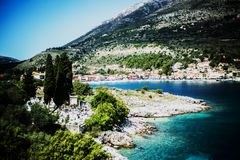 Agia Effimia, Kefalonia Island, Greece. Blue ionian sea, Agia Effimia, Kefalonia Island, Greece Stock Images