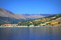 Agia Efimia wioska Obrazy Royalty Free