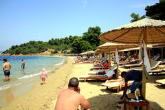 Agia Eleni  Beach, Skiathos, Greece. Royalty Free Stock Photos