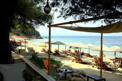 Agia Eleni  Beach, Skiathos, Greece. Royalty Free Stock Image