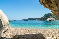 Agia Eleni plaża Kefalonia, Grecja Obraz Royalty Free