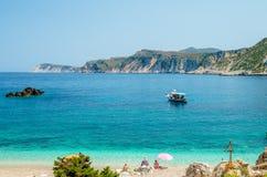 Agia Eleni plaża Kefalonia, Grecja Fotografia Royalty Free