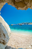 Agia Eleni plaża Kefalonia, Grecja Obrazy Royalty Free