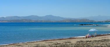 Agia galini beach. In crete island Royalty Free Stock Photos