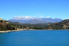 Agia Galini Beach in Crete island, Greece. Agia Galini Beach in Crete island in Greece stock photo