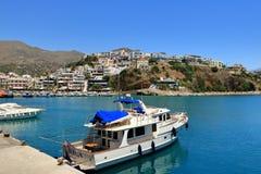 Agia Galini Beach in Crete island, Greece. Agia Galini Beach in Crete island in Greece royalty free stock photo
