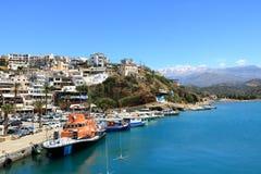 Agia Galini Beach in Crete island, Greece. Agia Galini Beach in Crete island in Greece stock images