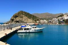 Agia Galini Beach in Crete island, Greece. Agia Galini Beach in Crete island in Greece stock photos