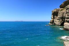 Agia Galini Beach in Crete island, Greece. Agia Galini Beach in Crete island in Greece royalty free stock image