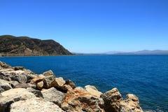 Agia Galini Beach in Crete island, Greece. Agia Galini Beach in Crete island in Greece stock photography