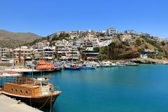 Agia Galini Beach in Crete island, Greece. Agia Galini Beach in Crete island in Greece stock image