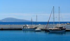 Agia galini harbor. In crete island Stock Images