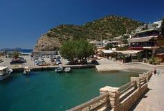 Agia galini harbor. In crete island Royalty Free Stock Photo