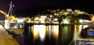 Agia Galini harbour at night Stock Images