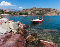 Agia Galini plaża Obrazy Royalty Free