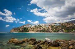 Agia Galini plaża w Crete wyspie, Grecja Obrazy Royalty Free