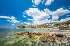 Agia Galini plaża w Crete wyspie, Grecja Fotografia Royalty Free