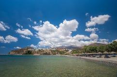 Agia Galini plaża w Crete wyspie, Grecja Obrazy Stock