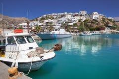 Agia Galini schronienie na Crete wyspie, Grecja Obraz Royalty Free