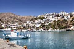 Agia Galini schronienie na Crete wyspie, Grecja Obrazy Royalty Free