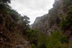 Agia Irini Gorge Canyon, Creta, Grécia Fotografia de Stock Royalty Free
