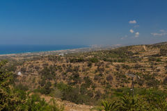 Agia Irini, Grèce Juillet 27 2016 : Vue panoramique à Rethymno f Photo stock