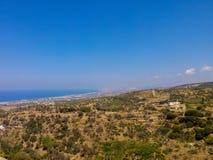 Agia Irini, Grecja Lipiec 27 2016: Panoramiczny widok Rethymno f Zdjęcie Royalty Free