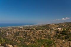 Agia Irini, Grecja Lipiec 27 2016: Panoramiczny widok Rethymno f Fotografia Stock