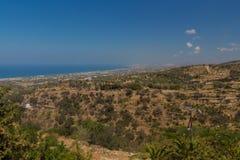 Agia Irini, Grecja Lipiec 27 2016: Panoramiczny widok Rethymno f Zdjęcie Stock