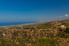 Agia Irini, Grecja Lipiec 27 2016: Panoramiczny widok Rethymno f Obraz Stock