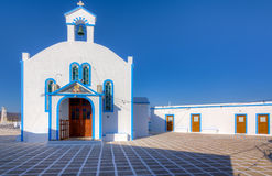 Agia kościół Paraskevi, Milos wyspa, Grecja Fotografia Stock