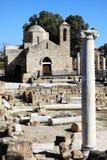 Agia Kyriaki教会,塞浦路斯 库存图片