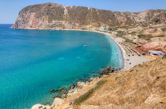 Agia Kyriaki beach, Milos island, Greece Royalty Free Stock Image