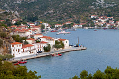 Agia Kyriaki Greek fishing village Stock Images