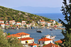 Agia Kyriaki village from above Royalty Free Stock Photo