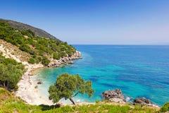 Agia Kyriaki w Kefalonia wyspie, Grecja Zdjęcia Royalty Free