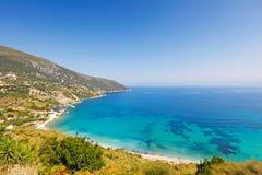 Agia Kyriaki w Kefalonia wyspie, Grecja Obraz Stock